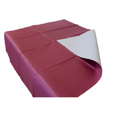 Mantel de Papel Cortado 1x1 metro Burdeos 40g (400 Uds)