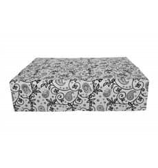 "Pre-Cut Paper Tablecloth ""Cachemir"" Black 37g 1x1m"