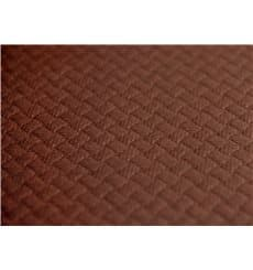 Pre-Cut Paper Tablecloth Brown 40g 1x1m (400 Units)