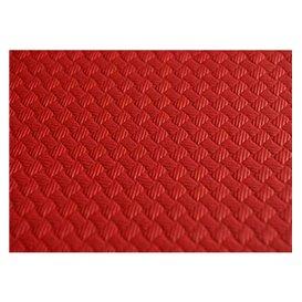 Pre-Cut Paper Tablecloth Red 40g 1x1m (400 Units)