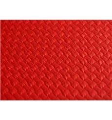 Pre-Cut Paper Tablecloth Red 40g 1x1m