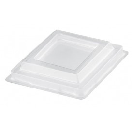 "Plastic Lid PET for Plastic Tasting Cup ""Rhombus"" Clear 95 ml (25 Units)"