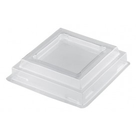 "Plastic Lid PET for Plastic Tasting Cup ""Pagoda"" Clear 65ml (25 Units)"