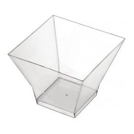 "Tasting Plastic Bowl PS ""Pagoda"" Medium Size Clear 200 ml (12 Units)"