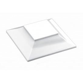 "Plastic Lid for Tasting Bowl PS ""Pagoda"" Medium Size White 200 ml (240 Units)"