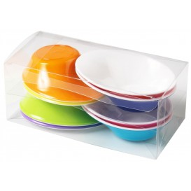 """Plastic Bowl PS """"Sodo"""" White and Multicolor 50 ml (160 Units)"""