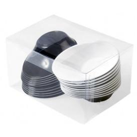 "Plastic Bowl PS ""Sodo"" White and Black 50 ml (20 Units)"