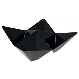 "Tasting Plastic Bowl PS ""Origami"" Black 10,3x10,3cm (500 Units)"