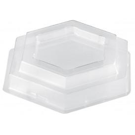 "Plastic Lid PET for Tasting Plastic Bowl ""Tulip"" Dessert Clear 65 ml (25 Units)"
