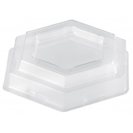 "Plastic Lid PET for Tasting Plastic Bowl ""Tulip"" Dessert Clear 65 ml (1000 Units)"