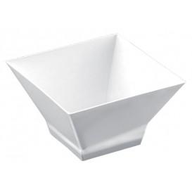 """Tasting Plastic Bowl PS """"Pagoda"""" White 350ml (12 Units)"""