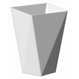 "Plastic Tasting Cup PS ""Diamond"" White 150 ml (12 Uts)"
