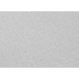 Pre-Cut Paper Tablecloth White 40g 1x1m (480 Units)