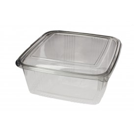 Plastic Hinged Deli Container PET Square shape 2000ml (50 Units)