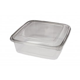 Plastic Hinged Deli Container PET Square shape 1500ml (200 Units)
