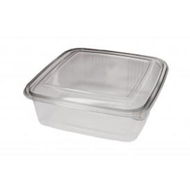 Plastic Hinged Deli Container PET Square shape 1500ml (50 Units)
