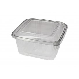Plastic Hinged Deli Container PET Square shape 1000ml (100 Units)