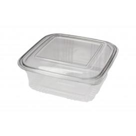 Plastic Hinged Deli Container PET Square shape 750ml (100 Units)