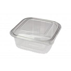Plastic Hinged Deli Container PET Square shape 500ml (900 Units)