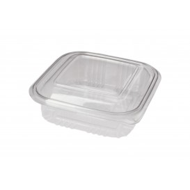 Plastic Hinged Deli Container PET Square shape 370ml (100 Units)