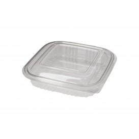 Plastic Hinged Deli Container PET Square shape 250ml (100 Units)