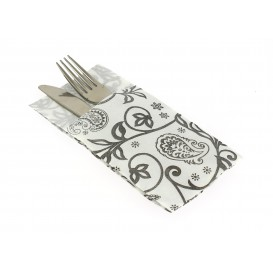 "Pocket Fold Paper Napkins ""Cachemire"" 40x40cm (30 Units)"