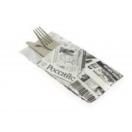 "Pocket Fold Paper Napkins ""Press"" 40x40cm (30 Units)"