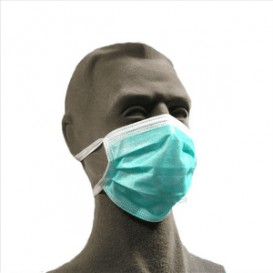 Disposable Surgical Mask Triple layer Rectangular Shape Green (50 Units)