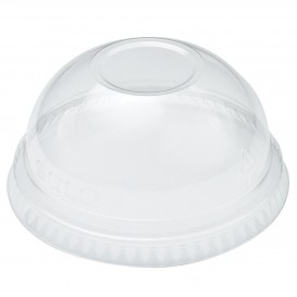 Plastic Dome Lid PET Crystal Ø9,8cm (100 Units)