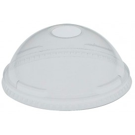 Plastic Dome Lid with Hole PET Crystal Ø7,3cm (125 Units)