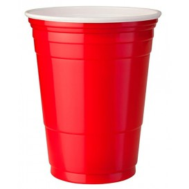 Plastic Cup PS Red American Party 470ml (1000 Units)