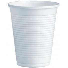 Plastic Cup PS White 200ml Ø7,0cm (100 Units)