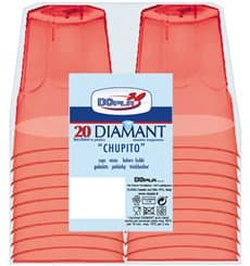 "Plastic Shot PS Crystal ""Diamant"" Red 50ml (20 Units)"