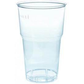Plastic Cup PS Crystal Clear 490ml Ø9,0cm (40 Units)