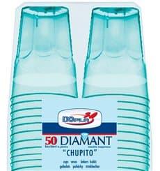 "Plastic Shot PS Crystal ""Diamant"" Blue 50ml (50 Units)"