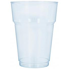 Plastic Pint Glass PS Clear Crystal 200 ml (40 Units)