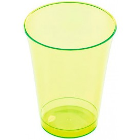Plastic Cup PS Injection Moulding Green 230 ml (10 Units)