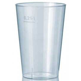Plastic Cup PS Clear 250 ml (50 Units)
