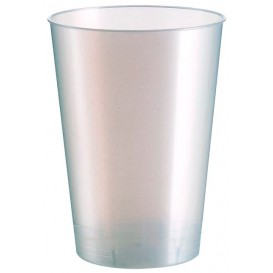"Plastic Cup PS ""Moon"" White Pearl 230ml (50 Units)"