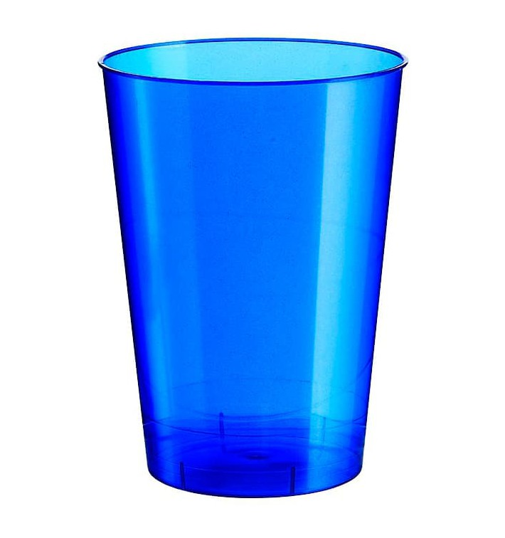 "Plastic Cup PS ""Moon"" Blue Pearl 230ml (50 Units)"