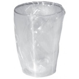"Plastic Cup PS ""Moon"" Wrapped Clear 230ml (50 Units)"