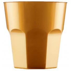 Vaso Plastico para Cocktail Oro PS Ø73mm 220ml (50 Uds)