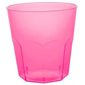 Plastic Cup PS Fuchsia Clear Ø7,3cm 220ml (50 Units)