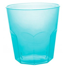 Plastic Cup PS Turquoise Clear Ø7,3cm 220ml (50 Units)