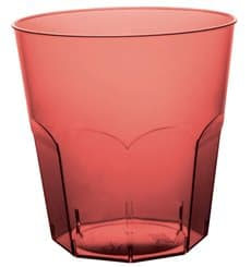 Plastic Cup PS Burgundy Clear Ø7,3cm 220ml (50 Units)