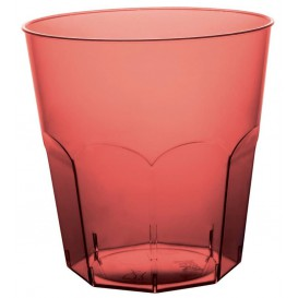 Plastic Cup PS Burgundy Clear Ø7,3cm 220ml (1000 Units)