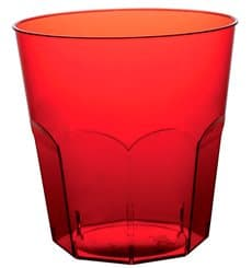 Plastic Cup PS Red Clear Ø7,3cm 220ml (1000 Units)