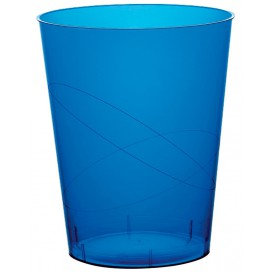 Vaso de Plastico Moon Azul Transp. PS 350ml (200 Uds)