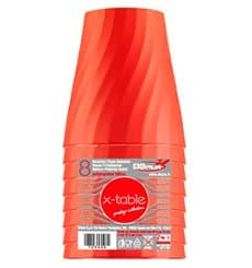 "Plastic Cup PP ""X-Table"" Orange 320ml (128 Units)"