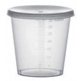 Plastic Lid PP Clear Ø4,5cm for Graduated Cup PP Clear (250 Units)